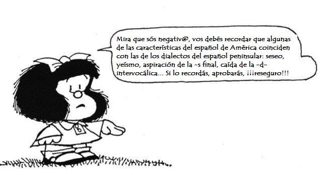 """Algunos consejos de Mafalda sobre """"su"""" castellano"""